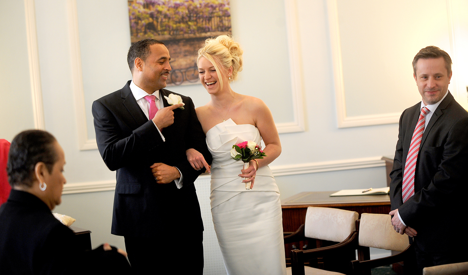 Lymington registry office wedding