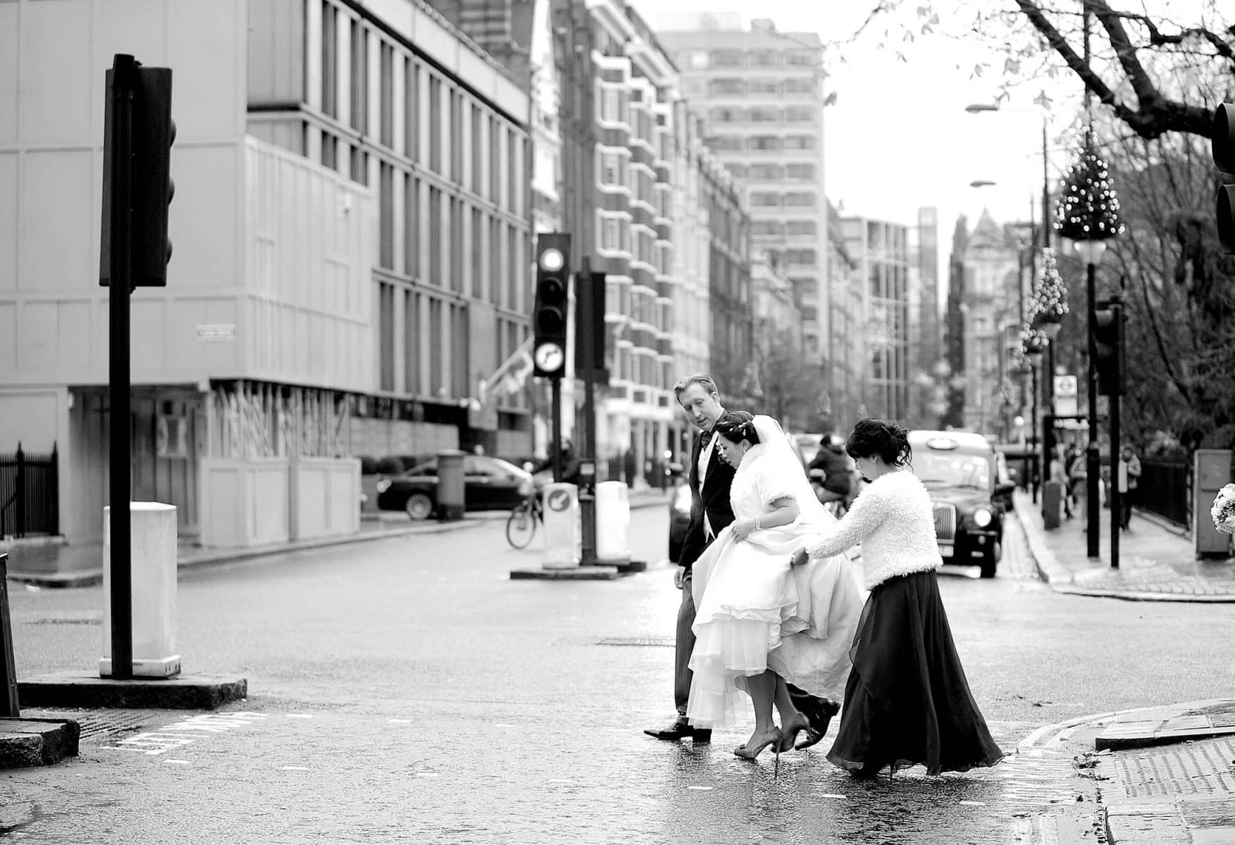 Bride candid wedding photo