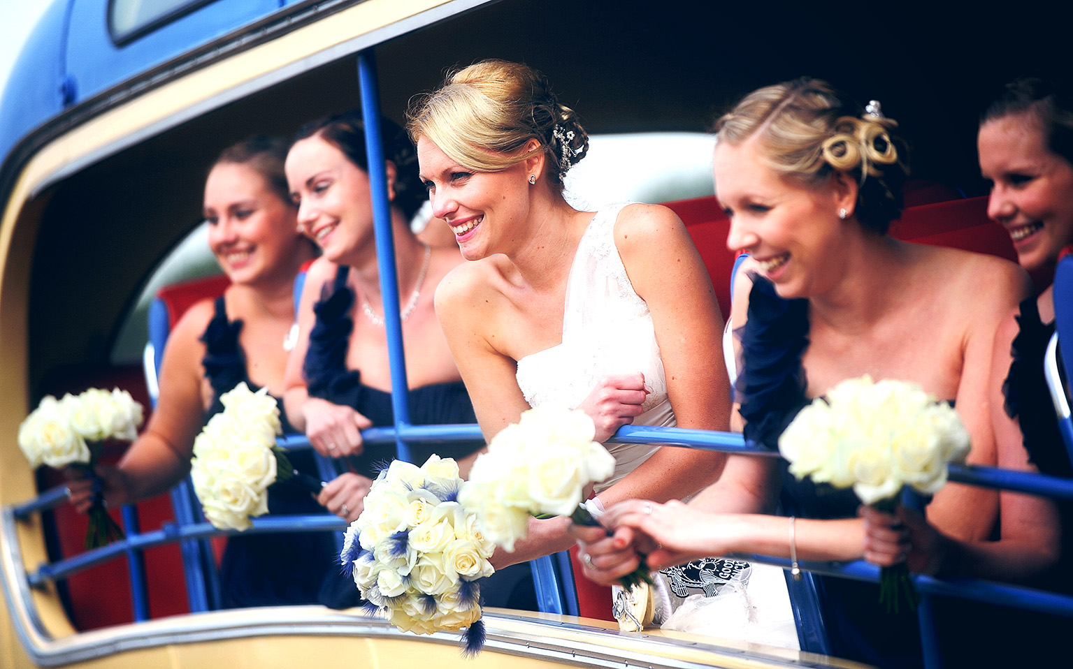 bride bridesmaids photo essex