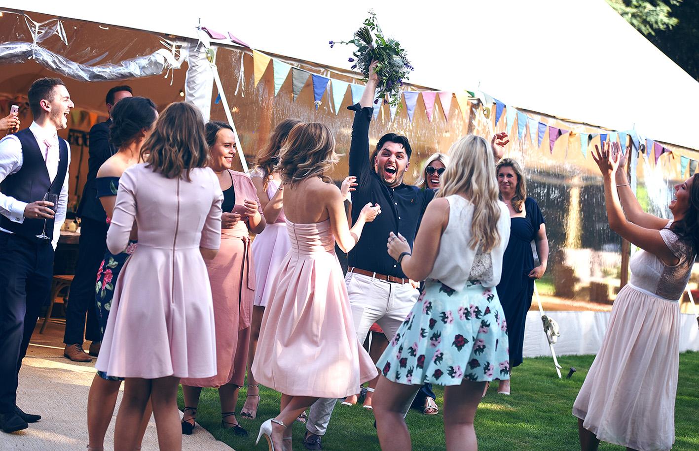 catch bouquet wedding essex