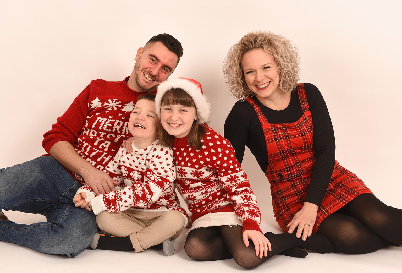 christmas family photo shoot